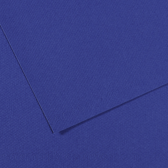Papel Mi-Teintes Canson 590 50x65cm Azul Marinho