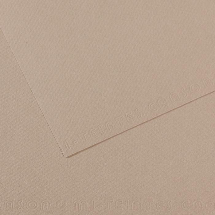 Papel Mi-Teintes Canson 122 50x65cm Cinza Flanela