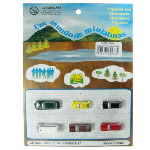 Miniatura de Carros para Maquete Minitec 06 Peças 2314