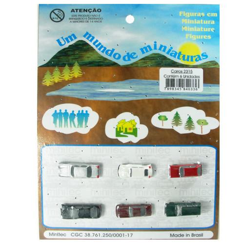 Miniatura de Carros para Maquete Minitec 06 Peças 2315