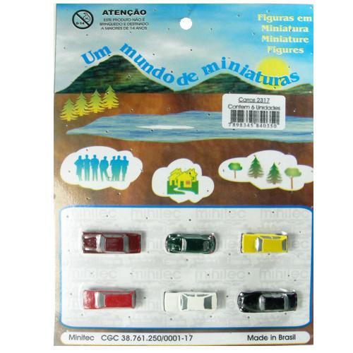 Miniatura de Carros para Maquete Minitec 06 Peças 2317