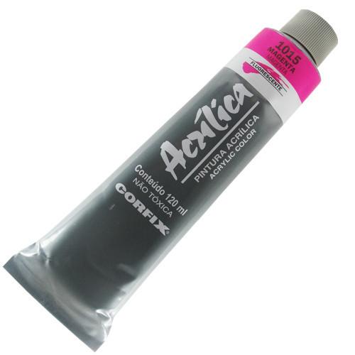 Tinta Acrílica Fluorescente Corfix 120ml 1015 Magenta