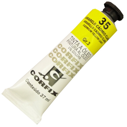 Tinta a Óleo Corfix 37ml 035 Amarelo Cádmio Claro G3