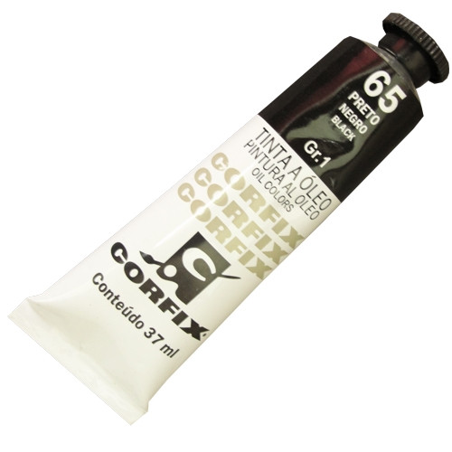 Tinta a Óleo Corfix 37ml 065 Preto G1