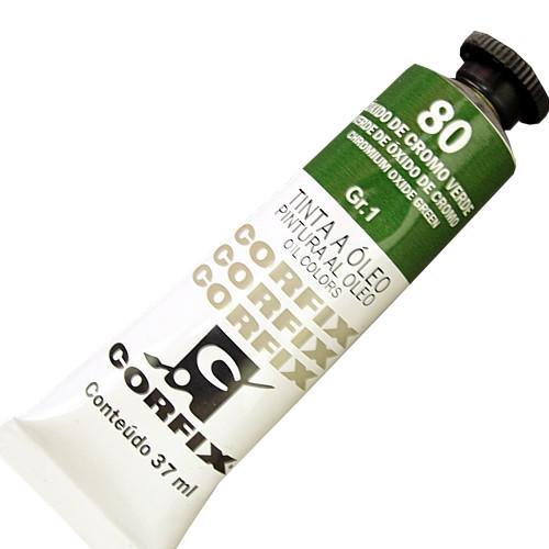 Tinta a Óleo Corfix 37ml 080 Óxido Cromo Verde G1
