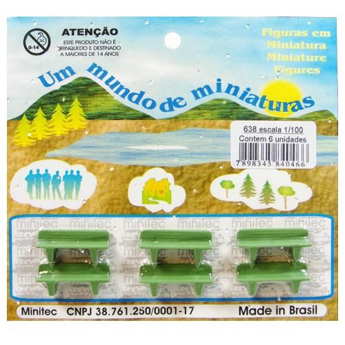 Miniatura de Banco Minitec 1/100 - 06 Peças 638