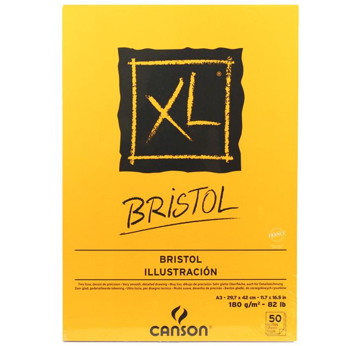 Bloco para Desenho Canson XL Bristol 180g/m² A3 50 folhas