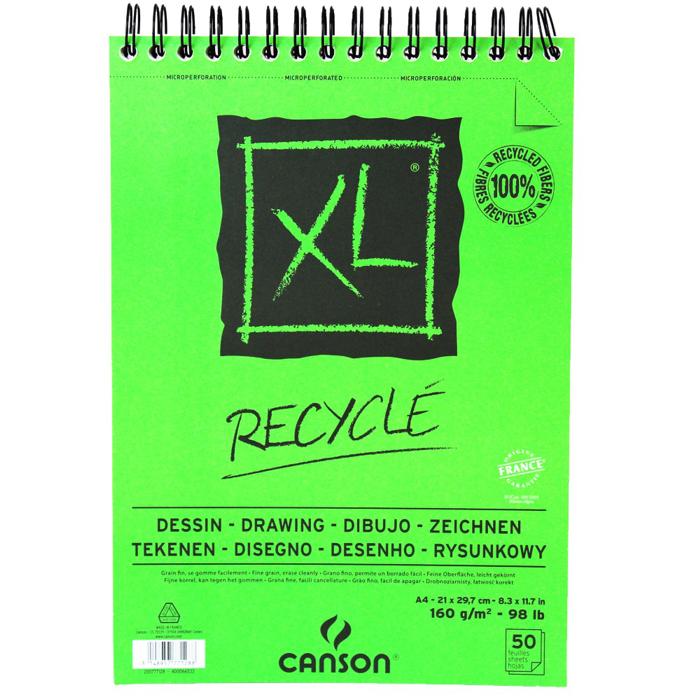 Bloco para Desenho Canson Recyclé XL 160g/m² A4 50 folhas