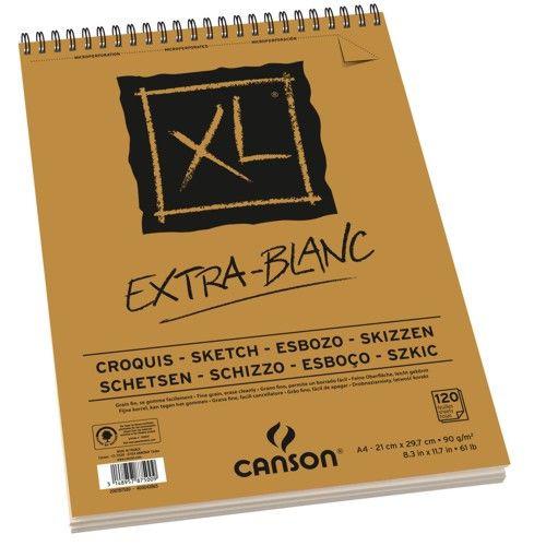 Bloco de Desenho A5 XL Extra Blanc Canson