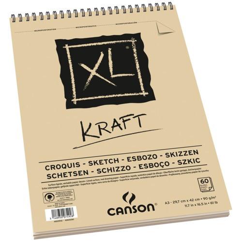 Bloco de Desenho Kraft A3 XL Canson