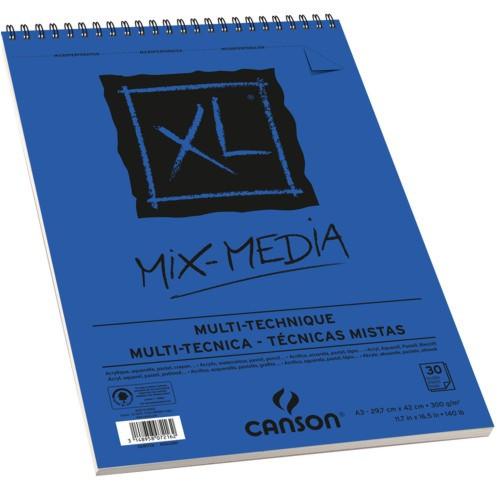 Bloco de Papel Para Desenho A4 XL Mix Media Acrylique