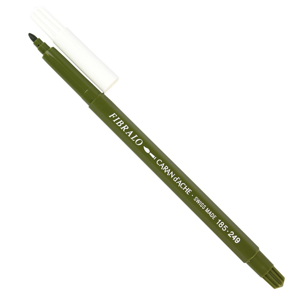Caneta Fibralo Caran d'Ache Aquarelável Verde Musgo 249