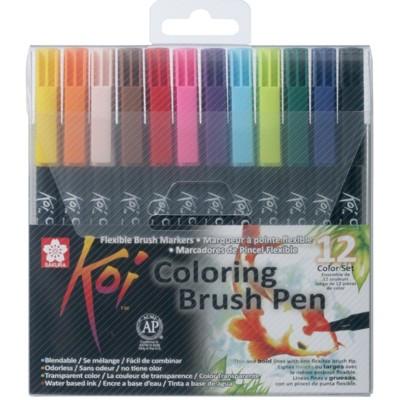Caneta Brush Pen Sakura 12 Cores