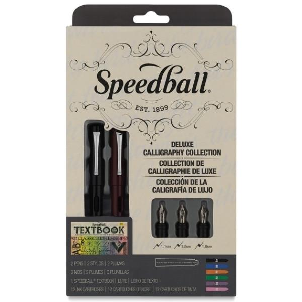 Caneta Tinteiro Estojo Luxo Caligrafia Speedball 2904