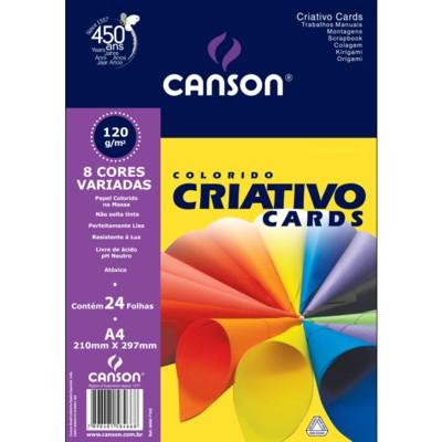 Colorido Criativo Cards Canson A4 Linha Estudante