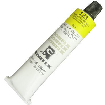 Tinta a Óleo Corfix 120ml 123 Amarelo Cádmio G1