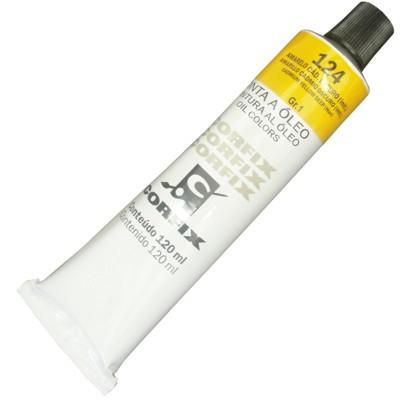 Tinta a Óleo Corfix 120ml 124 Amarelo Cádmio Escuro G1