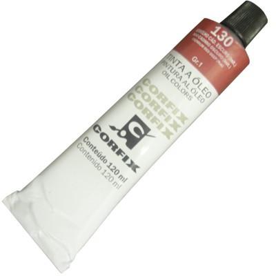 Tinta a Óleo Corfix 120ml 130 Vermelho Cádmio Escuro G1