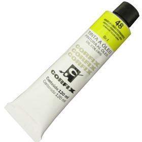 Tinta a Óleo Corfix 120ml 048 Amarelo Limão Permanente G1