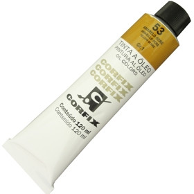 Tinta a Óleo Corfix 120ml 053 Amarelo Ocre G1