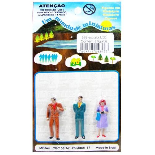 Personagens Para Maquetes Minitec 1/50 - 03 Peças 688