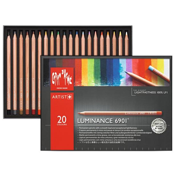 Lápis Luminance CARAN d'ACHE 20 Cores