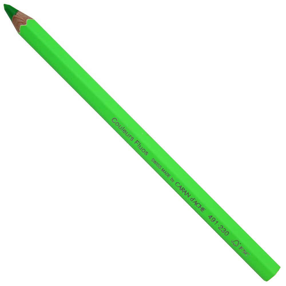 Lápis Jumbo Caran D'Ache Neon Verde