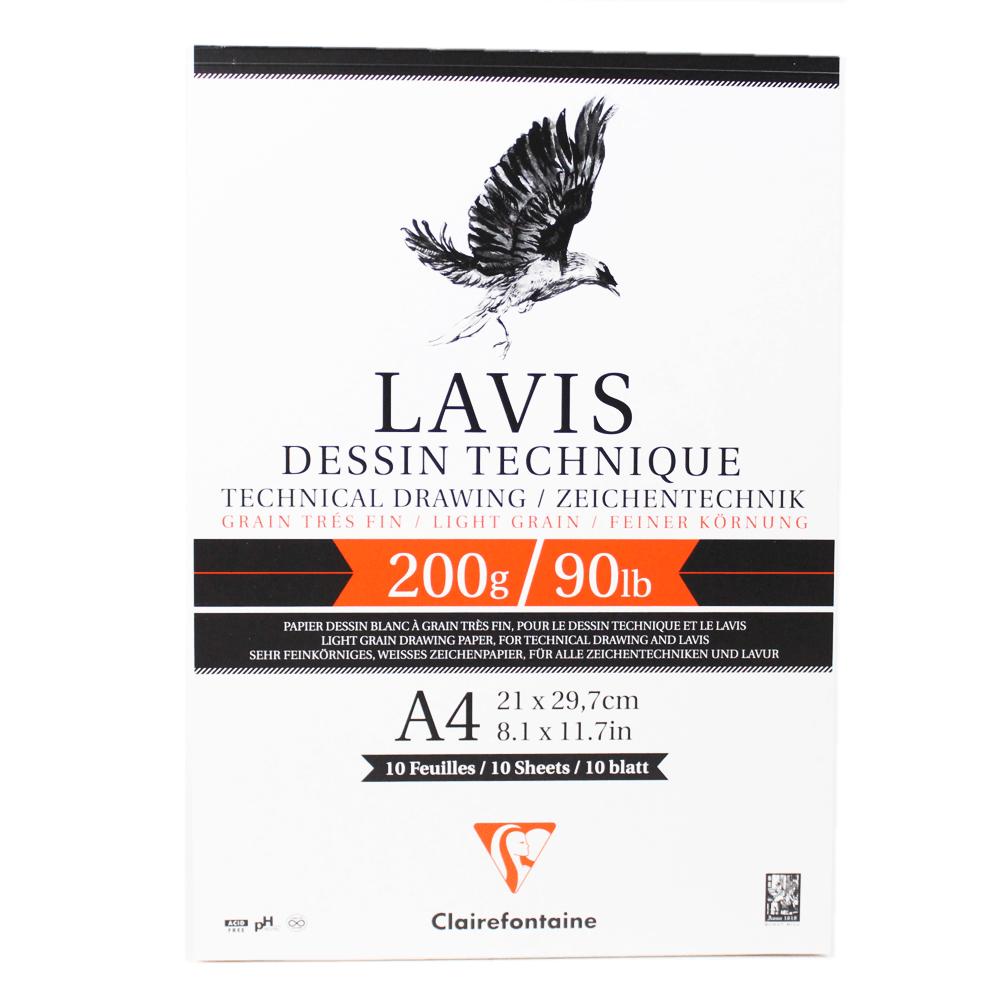 Papel Para Desenho Técnico LAVIS A4 200g 10 folhas