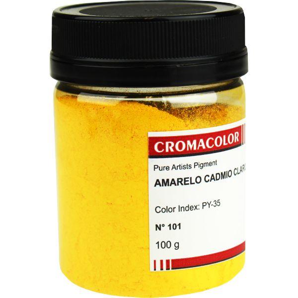 Pigmento Artístico Cromacolor 101 Amarelo Cadmio Claro 100G