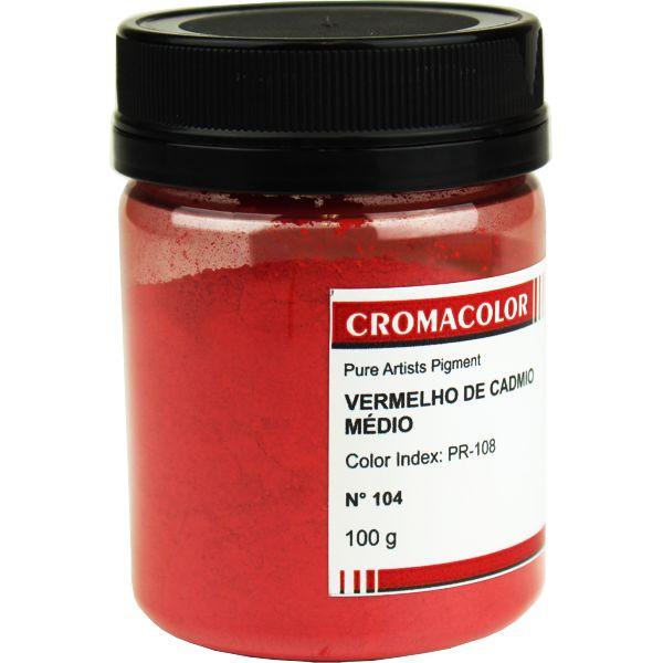 Pigmento Artístico Cromacolor 104 Vermelho Cadmio Médio 100G