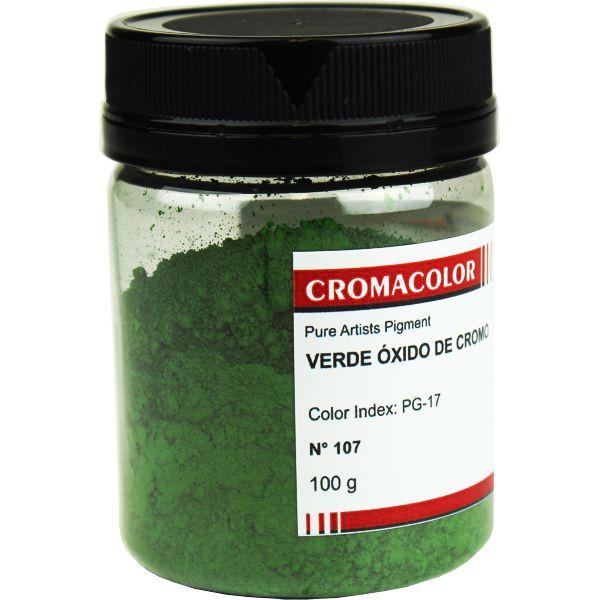 Pigmento Artístico Cromacolor 107 Verde Óxido Cromo 100G