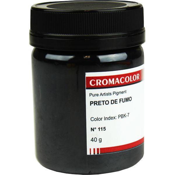 Pigmento Artístico Cromacolor 115 Preto de Fumo 40G