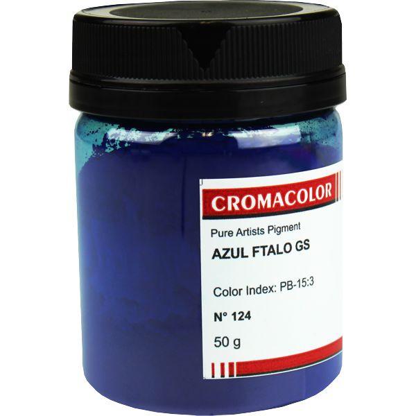 Pigmento Artístico Cromacolor 124 Azul Ftalo GS 50G