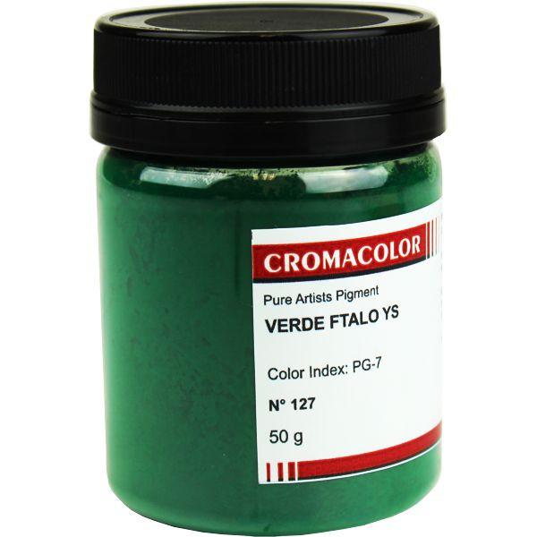 Pigmento Artístico Cromacolor 127 Verde Ftalo YS 50G