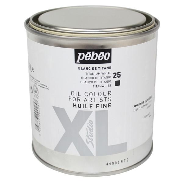Tinta a Óleo Para Tela Importada Pébéo 650ml Branca