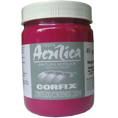 Tinta Acrílica Corfix 250ml 60 Magenta G2