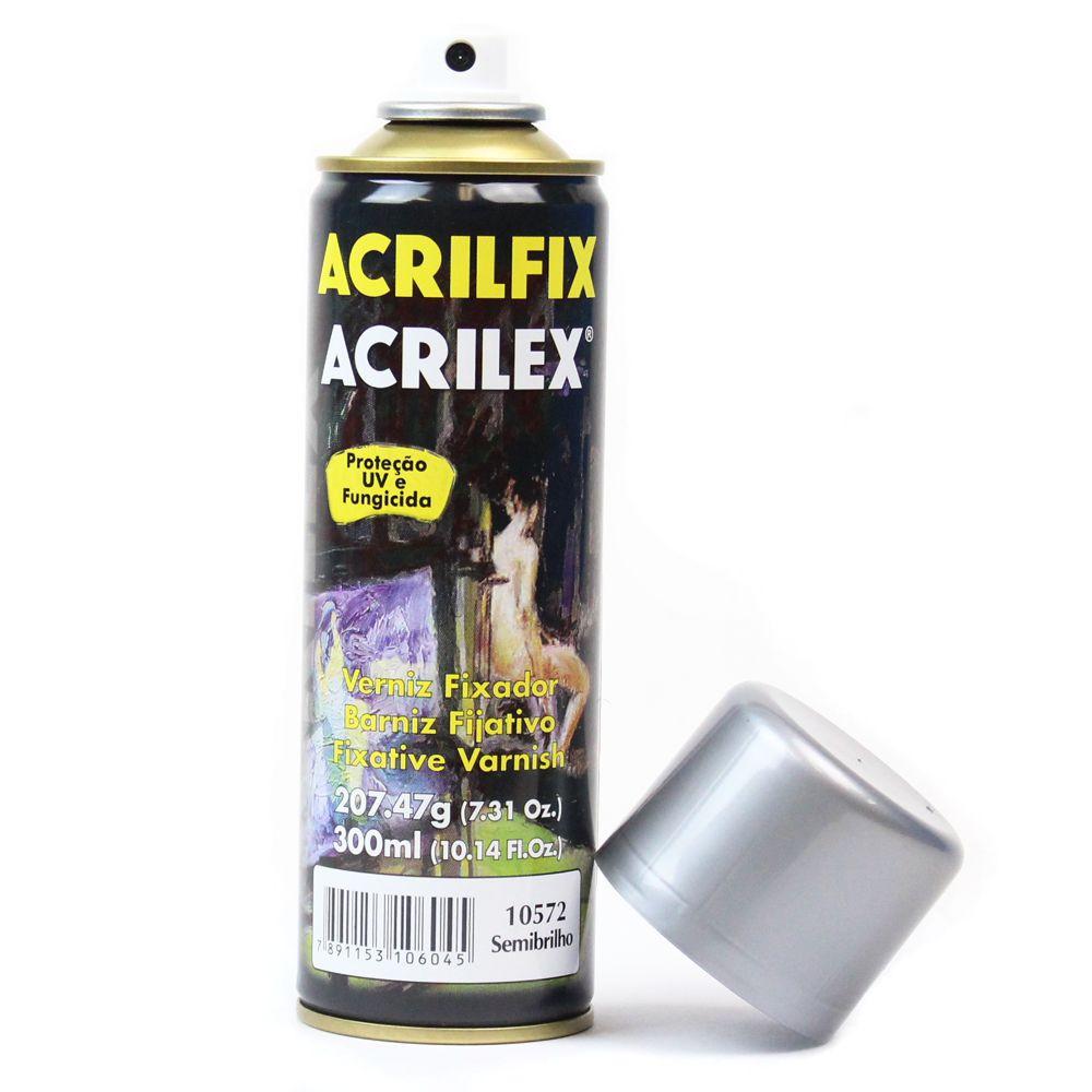 Verniz Spray Acrilex Acrilfix 210g Semi Brilhante