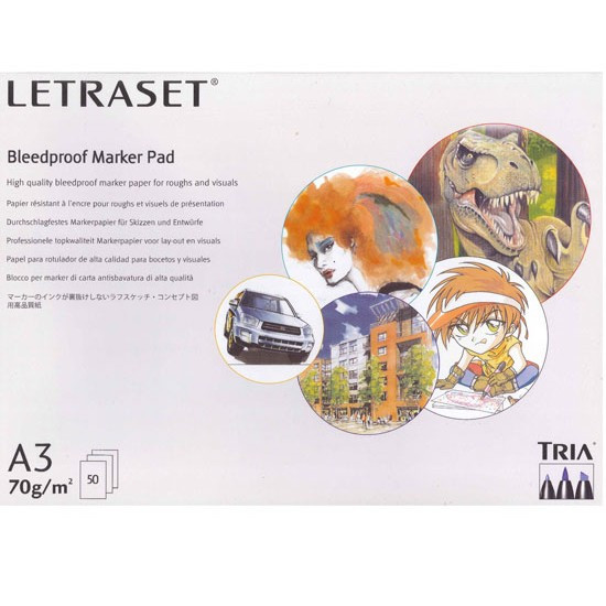 Bleedproof Marker Letraset Bloco A3