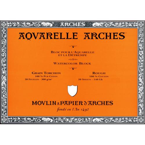 Papel Aquarela Canson Arches 300g/m² 23X31cm Grain Torchon