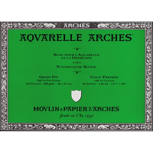 Papel Aquarela Canson Arches 300g/m² 36X51cm Grain FIN