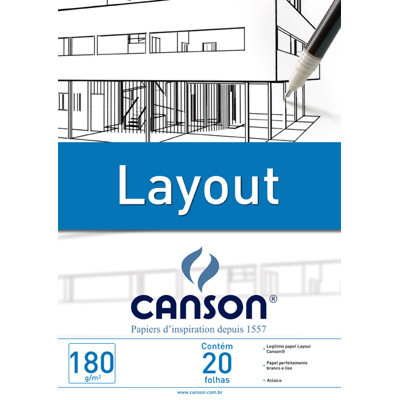Bloco Layout Canson A3 180g/m²