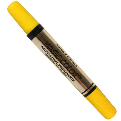 Marcador Magic Color 101 Amarelo Ponta Dupla