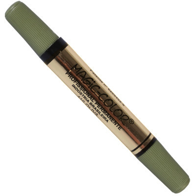 Marcador Magic Color 410 Verde Oliva Ponta Dupla
