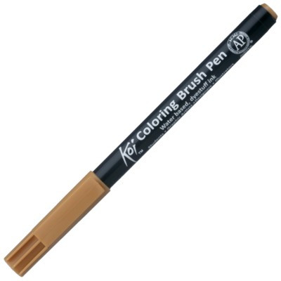 Caneta Sakura Brush Pen 110 Dark Brown