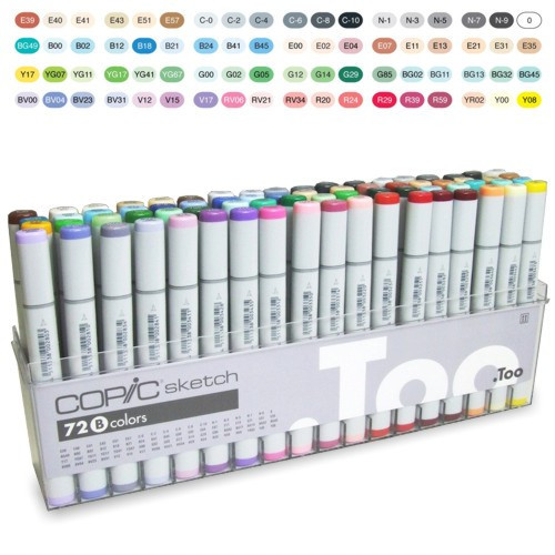 Copic Marker Sketch B 72 Cores