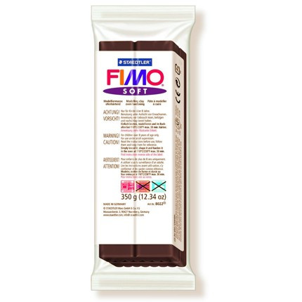 Massa Fimo Soft 350g 75 Chocolate