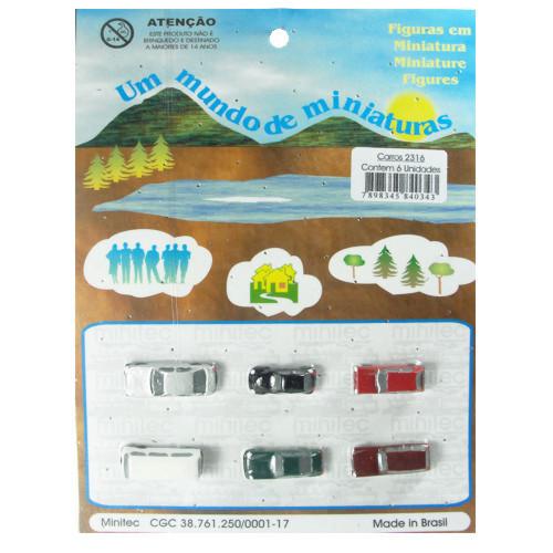 Miniatura de Carros para Maquete Minitec 06 Peças 2316