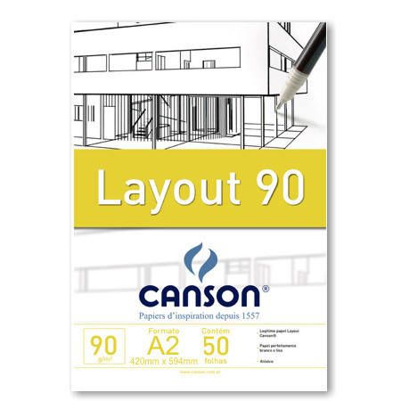 Bloco Layout Canson A2 90g/m²