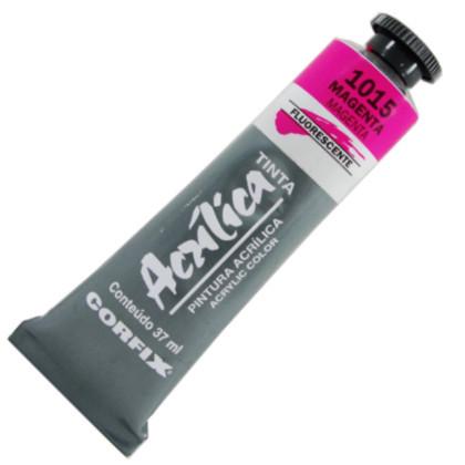 Tinta Acrílica Fluorescente Corfix 37ml  1015 Magenta