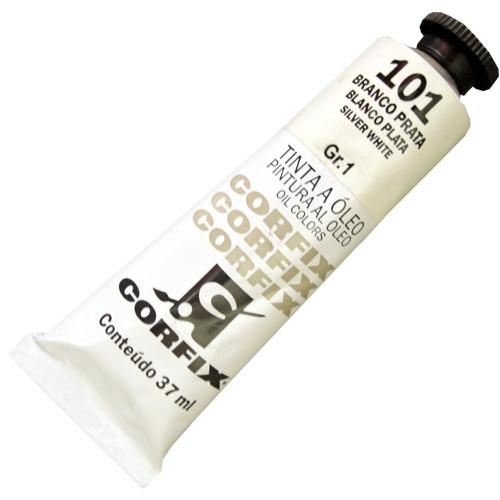 Tinta a Óleo Corfix 37ml 101 Branco Prata G1